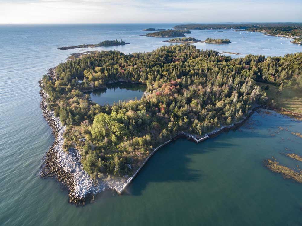 Island on Maine Coast, Maine Coast Heritage Trust