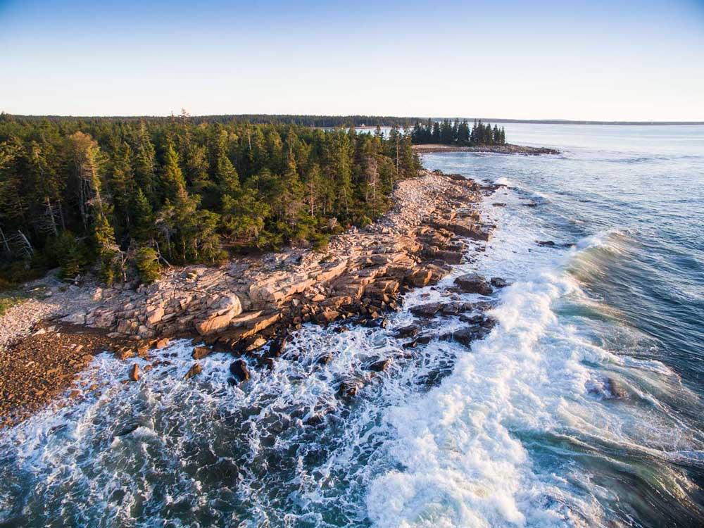 Drone, Schoodic Point, Maine Coast Heritage Trust