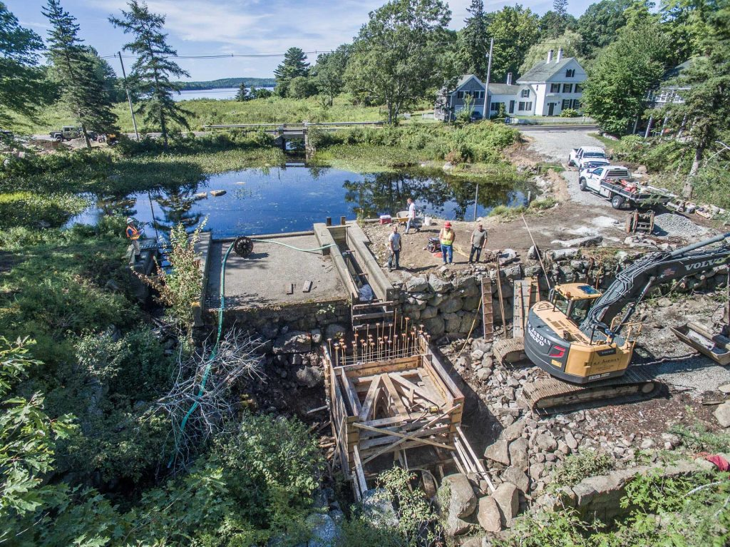 Building Fishway, Maine Coast Heritage Trust