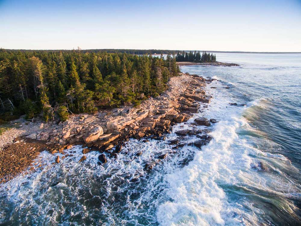 Drone, Schoodic Point, Maine Coast Heritage Trust